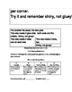 Gluing Lesson and Assessment for Interactive Student Notebooks