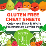 Gluten-Free Cheat Sheet Color and Black and White Backgrounds