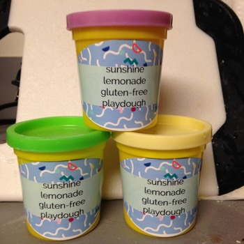 Gluten free sunshine lemonade scented playdough-homemade!!