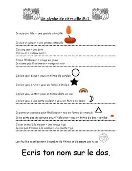 Glyph de l'Halloween  pour 5 ou 6 ans