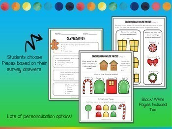 Glyphs BUNDLE! Activities for the Whole Year! Crafts, Graphing, Writing & More