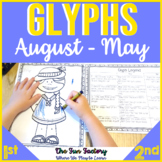 Glyph Activities for the Year August to May | Literacy and Math Centers
