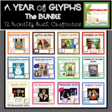 Glyphs throughout the Year- 12 Monthly Math Glyphs