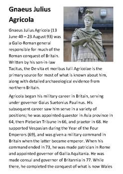 Gnaeus Julius Agricola Handout