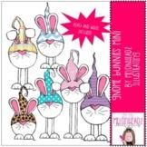 Gnome Bunnies clip art - Mini - by Melonheadz Clipart