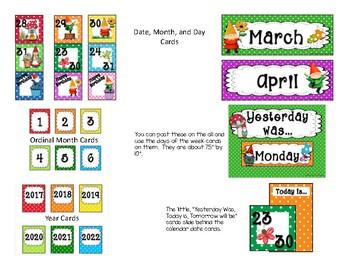 Gnome Calendar Set