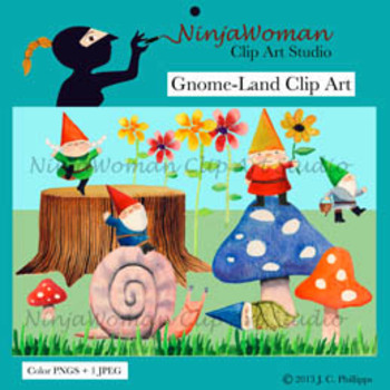 Gnome Clip Art and Name Tags