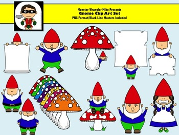 Gnome Clipart Collection -- PNG Format -- Personal or Commercial Use