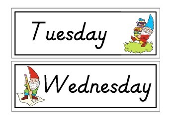 Gnome Days of The Week