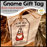 Gift Tags Gnome Holiday Theme Free Download