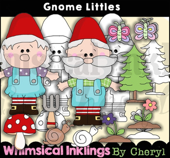 Gnome Littles Clipart Collection