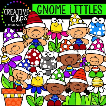 Gnome Littles Clipart {Creative Clips Clipart}