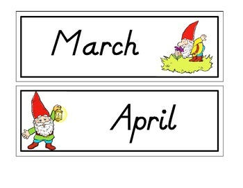 """Gnome """"Months of the Year"""""""