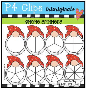 Gnome Spinners (P4 Clips Trioriginals) MATH CLIPART