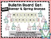Gnome Spring Bulletin Board Set - Easter Bulletin Board - Gnome Decor