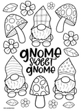 Gnome Coloring Pages Worksheets Teaching Resources Tpt