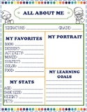 "Gnome Themed ""All About Me"""