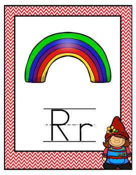 Garden Gnome Themed Alphabet Posters