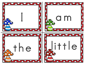 Garden Gnome Themed Popcorn (Sight Words) and Banner