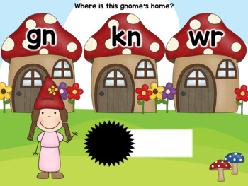 Gnome Word Building – Words with Silent Letters: kn, gn, wr