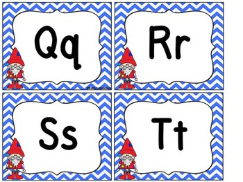 Gnome Word Wall Letters