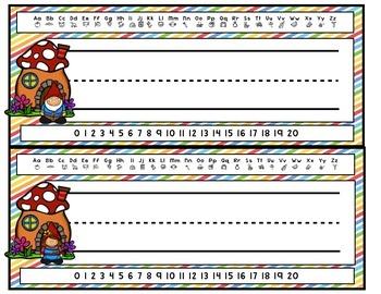 Gnome desk name tags