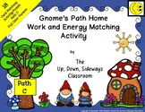 Gnome's Path Home Work/Energy Matching and Task Card Activity: Path C