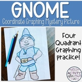 Garden Gnome Coordinate Graphing Ordered Pairs Mystery Picture