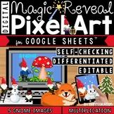 Gnomes Digital Pixel Art Magic Reveal MULTIPLICATION