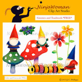 Gnomes and Toadstools FREE Clip Art