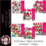 Gnomes clip art - BUNDLED SET - by Melonheadz