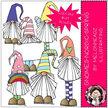 Gnomes clip art - Nordic - Spring - Mini - Melonheadz Clipart