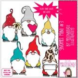 Gnomes clip art - Set 3 - Mini - by Melonheadz Clipart