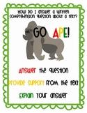 Go APE - Writing Comprehension / BCR Anchor Chart