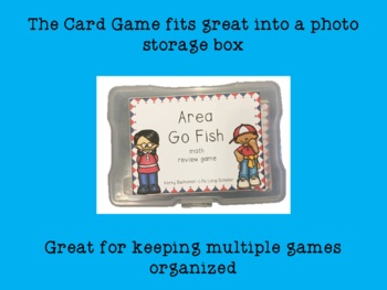 Go Area! Go Fish Area Review Game (Color and Black and White)