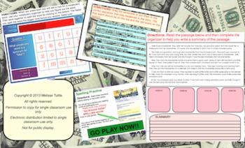 Go Around Dollar Reading SMARTboard multi-day unit; Aligned to 3rd Grade CCSS