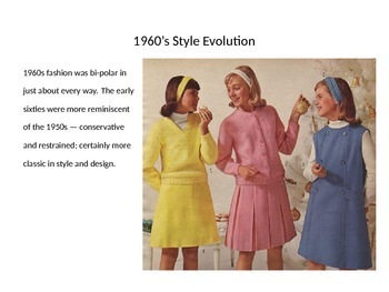 Go Ask Alice 1960s Fashion and Historical Events PowerPoint