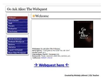 Go Ask Alice: The Webquest