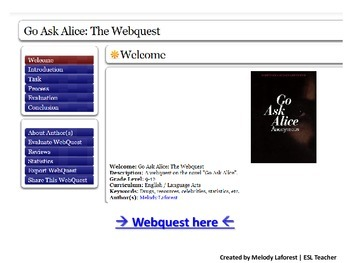 Go Ask Alice: The Webquest