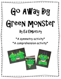 Go Away Big Green Monster {A Symmetry and Comprehension Activity}