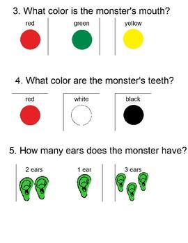 Go Away Big Green Monster! Activities Level 2