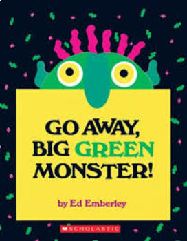Go Away Big Green Monster! Body Part, Trace, Cut and Paste!
