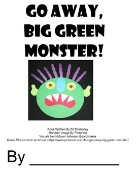Go Away Big Green Monster Bundle (Speech Therapy, Halloween)