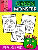 Green Monster: Coloring Pages