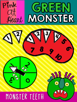 Green Monster: Monster Teeth Counting Game