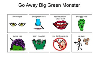 Go Away Big Green Monster! Sequencing Cards