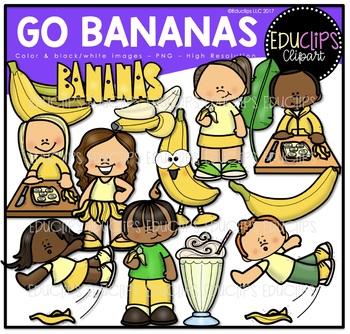 Go Bananas Clip Art Bundle {Educlips Clipart}