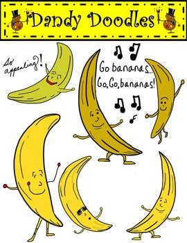 Go Bananas Clip Art by Dandy Doodles