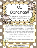 Go Bananas! ~ First 200 FRY words sight word game
