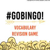 Go Bingo! No Prep Vocabulary Review Game